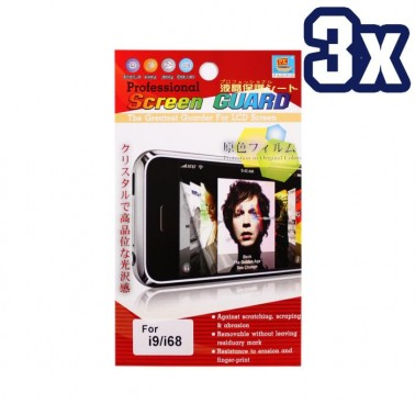 Lot 3x Screen Protector for CECT i9 / Sci Phone i68 Cell Phone