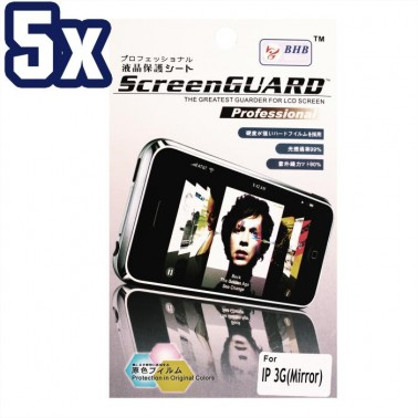 Lot 5x Mirror Screen Protector for Apple iPhone 3G 3GS Cell Phone